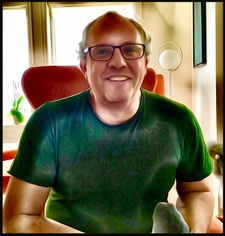 Picture of me, picture taken 14 August 2016, processed with Prisma.