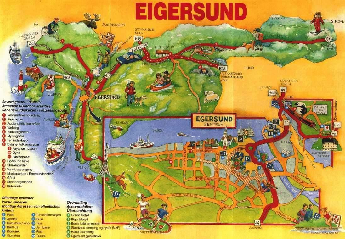 kart over nice og omegn EGERSUND   Presentasjon av Egersund, Eigersund og Dalane kart over nice og omegn