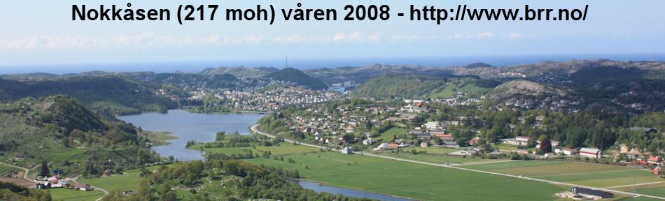 Utsikten fra Nokkåsen ned mot sentrum Egersund.