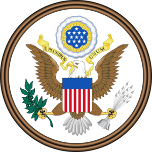 USAs riksvåpen eller store segl (Great Seal of the United States)