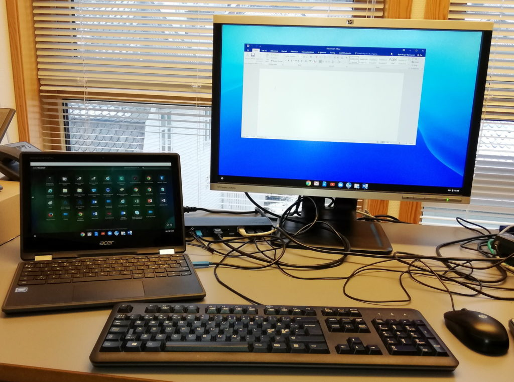 Acer Chromebook Spin 11 og dokking