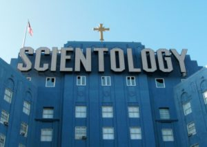 "Scientologikirkens ""Big Blue""-bygning i Los Angeles i USA"
