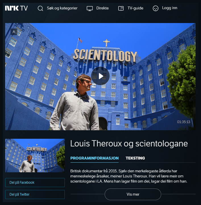 Louis Theroux og scientologane (2015)