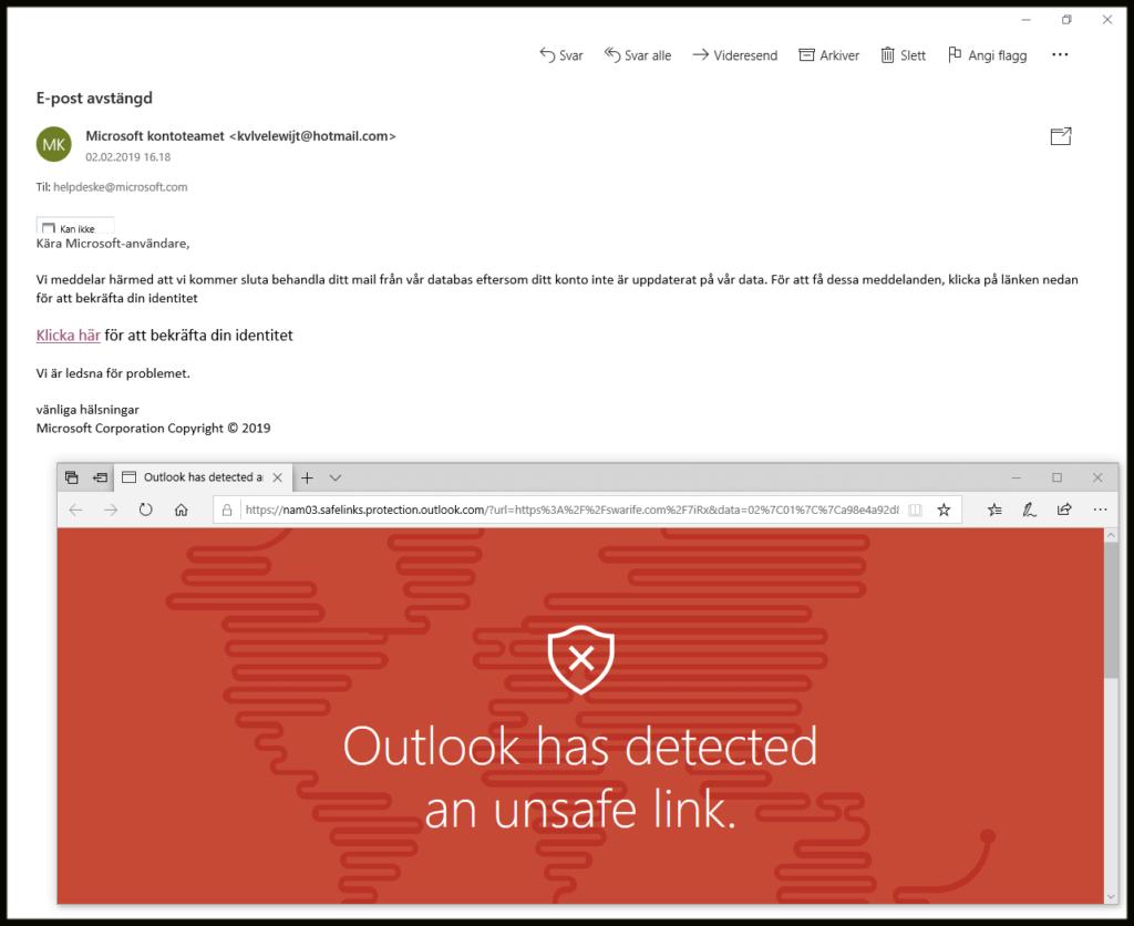 "Neppe en e-post fra ""Microsoft kontoteamet"""