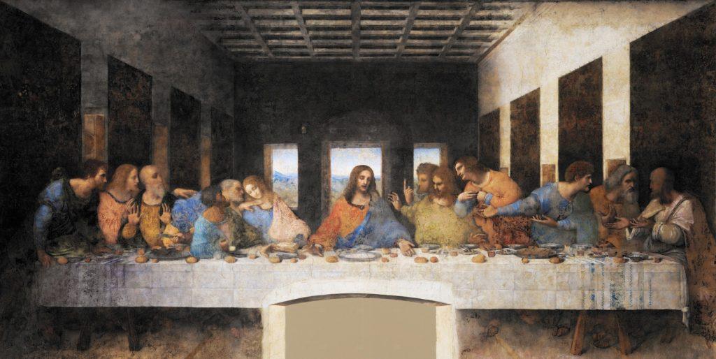 """Maleriet """"Nattverden"""" av Leonardo da Vinci."""