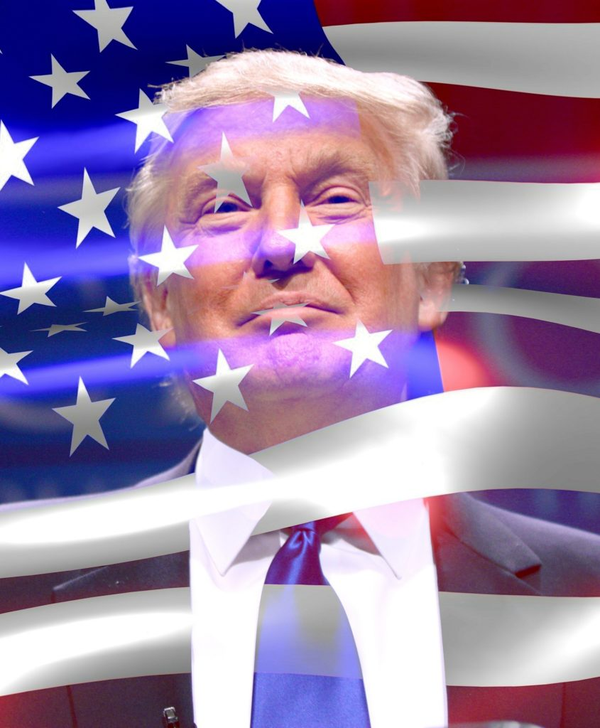 Donald Trump & flagget